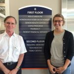 MSW Student Hayley Smith and Field Instructor Frank Heitmann