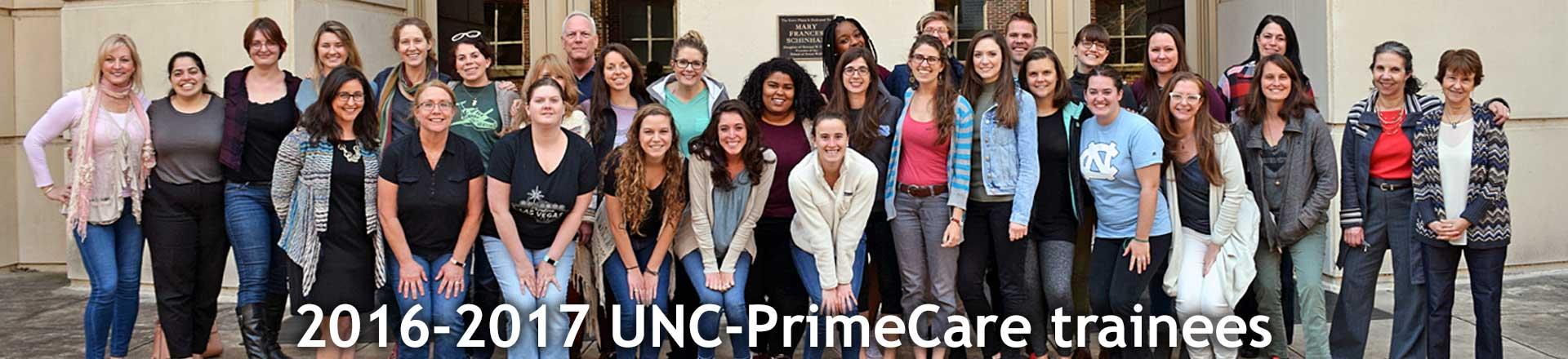 2016-2017 UNC-PrimeCare trainees