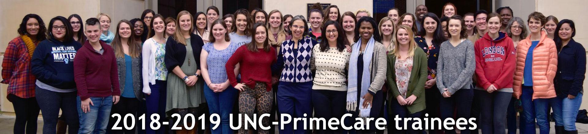 2018-2019 UNC-PrimeCare trainees