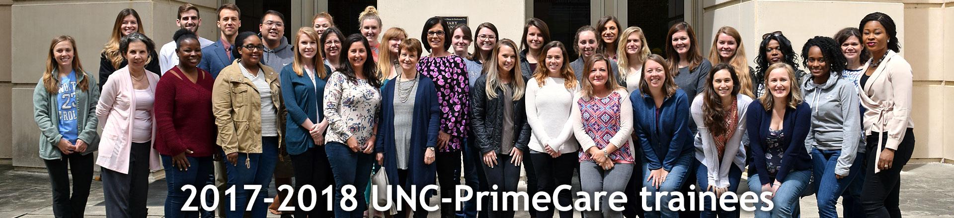 2017-2018 UNC-PrimeCare trainees